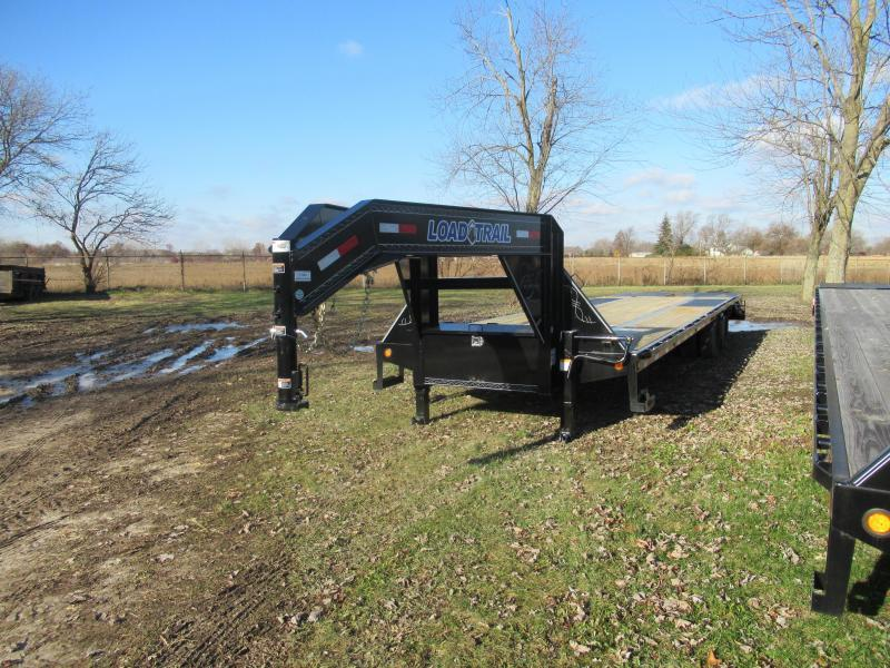 28' Low Profile Deckover 22K Gooseneck Equipment Trailer W/Max Ramps