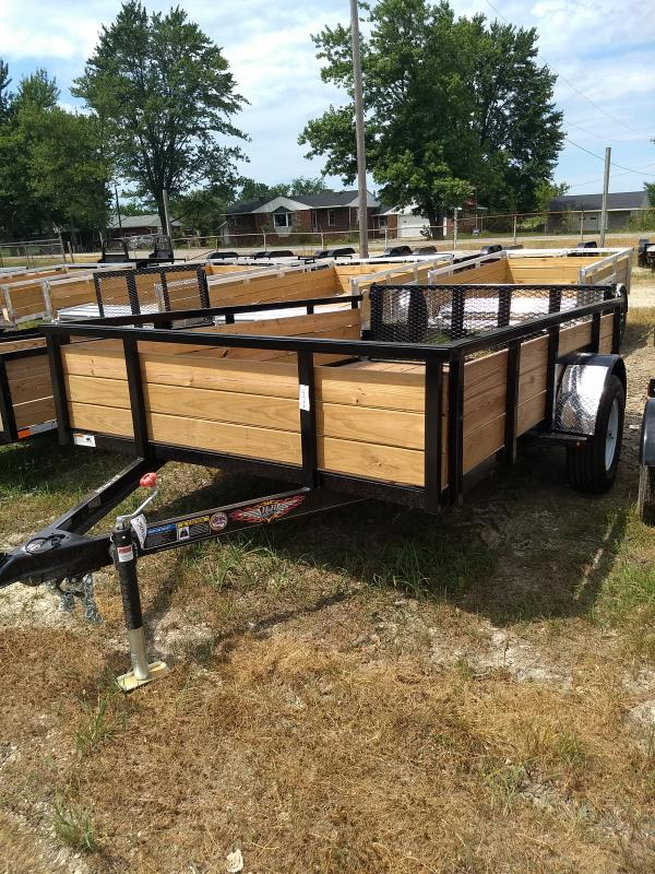 2018 H and H Trailer 5.5X10 STEEL WOOD SIDE 3.5K