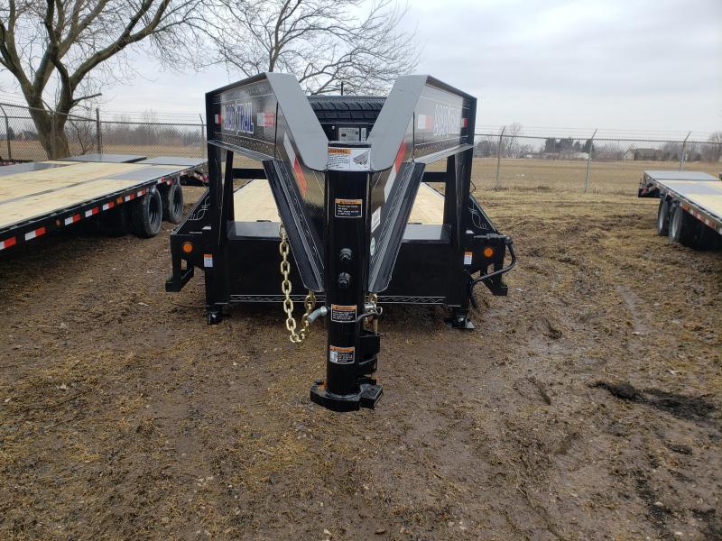 28' Deckover 14K Gooseneck Equipment Trailer W/Max Ramps