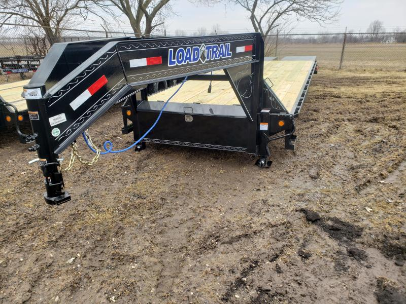 28' Deckover 14K Gooseneck Equipment Trailer W/Max Ramps