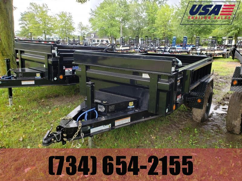 New 5x8 Load Trail 5k Single axle Dump Trailer