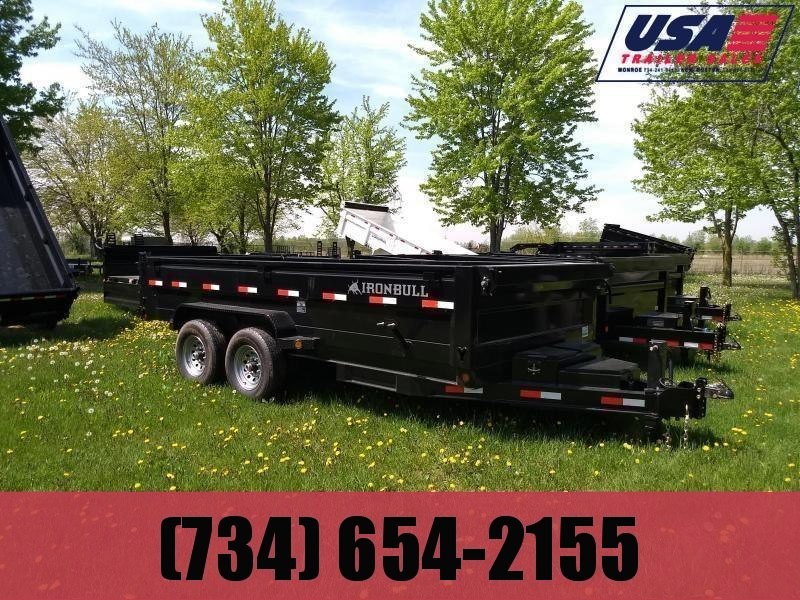 NEW 83X14 Iron Bull Dump Trailer 14K Loaded