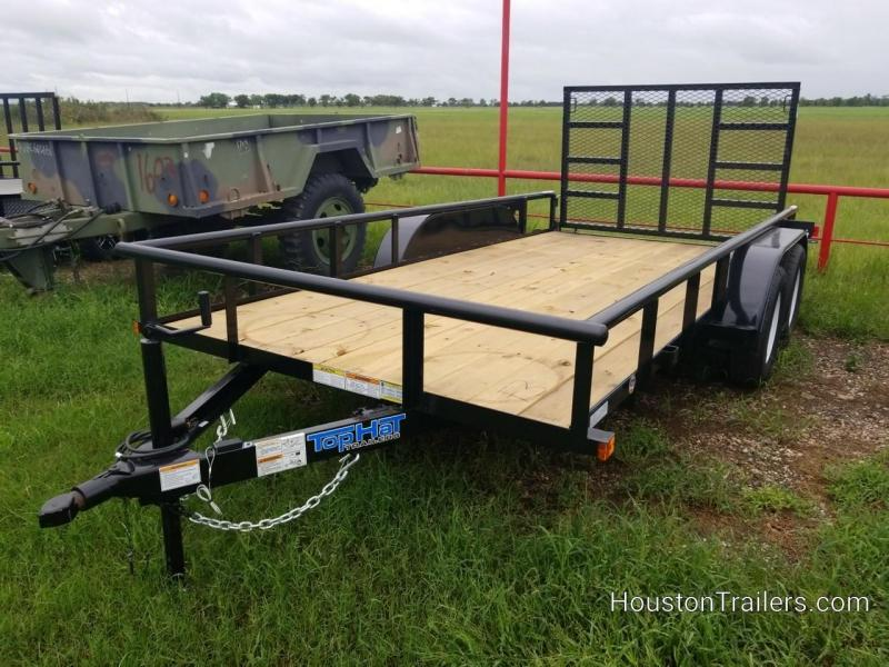 "2019 Top Hat Trailers EP 14' x 77"" Utility Trailer TH-142"