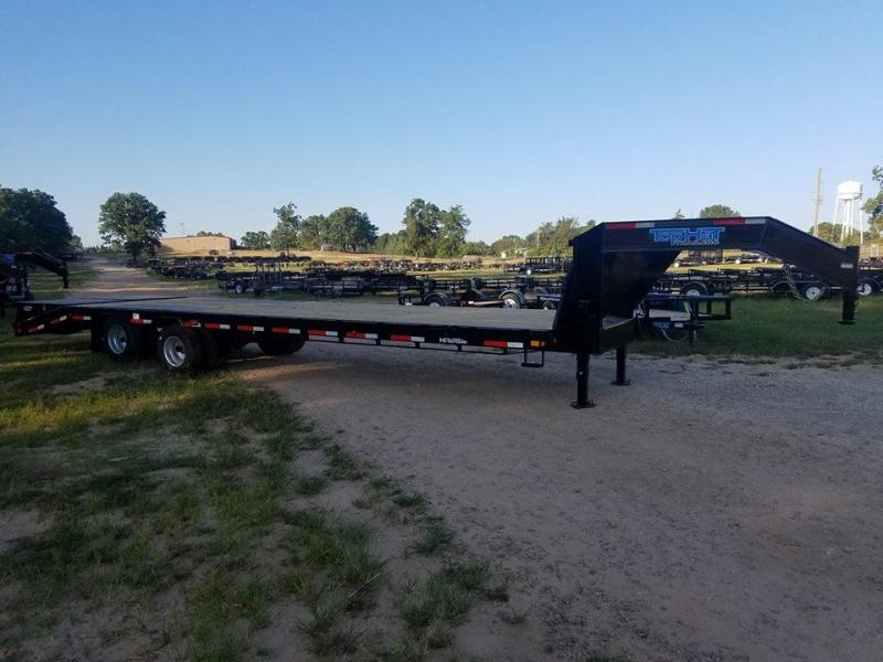 2018 Top Hat Trailers 32' GN 259 HD Flatbed Trailer TH-138