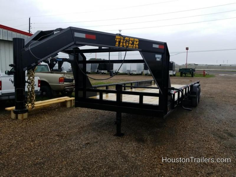 2019 Tiger Trailers 24' Lowboy Equipment Trailer TI-57