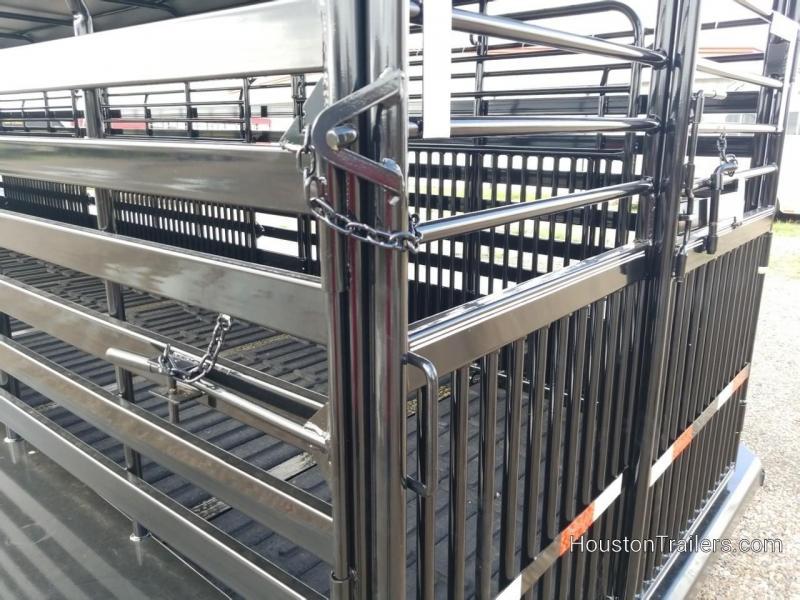 2019 Delco Trailers 32' Bar Top Livestock Rubber Floor Trailer DEL-34