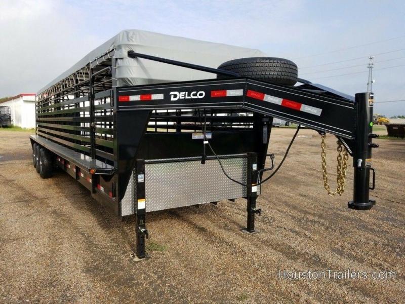 2019 Delco Trailers 32 ft Livestock Bar Top DEL-75