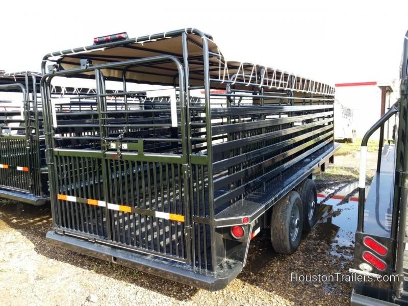 2018 Delco Trailers 20' Bar Top Livestock / Cattle w/rubber Trailer DEL-36