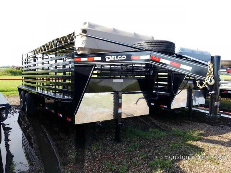 2018 Delco Trailers 20' Bar Top Livestock / Cattle w/rubber Trailer DEL-36