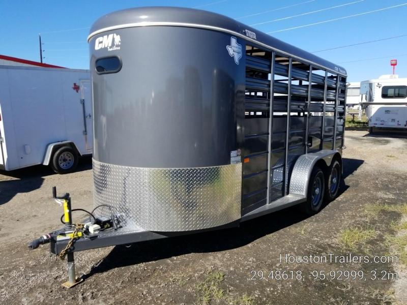 2019 CM Stocker 16' x 6' Livestock Trailer With Ramp CM-66