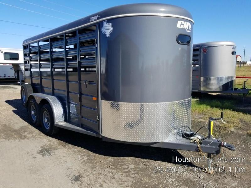 2019 CM Stocker 16' x 6' Livestock Trailer With Ramp CM-66