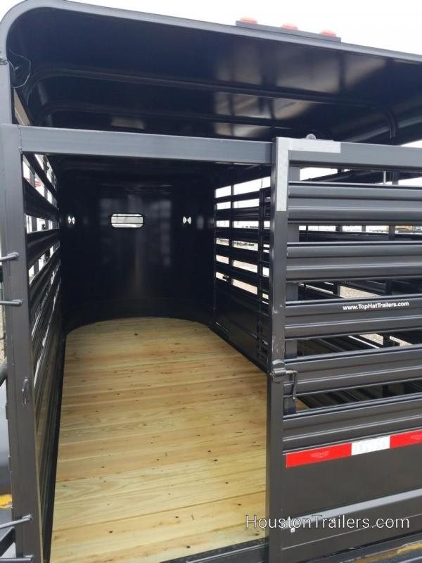 2019 Top Hat Trailers 16' Stock Livestock Trailer TH-163