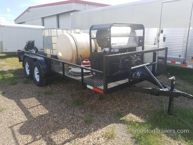 2013 Homemade Pressure Washer System 16' Utility Trailer 8066