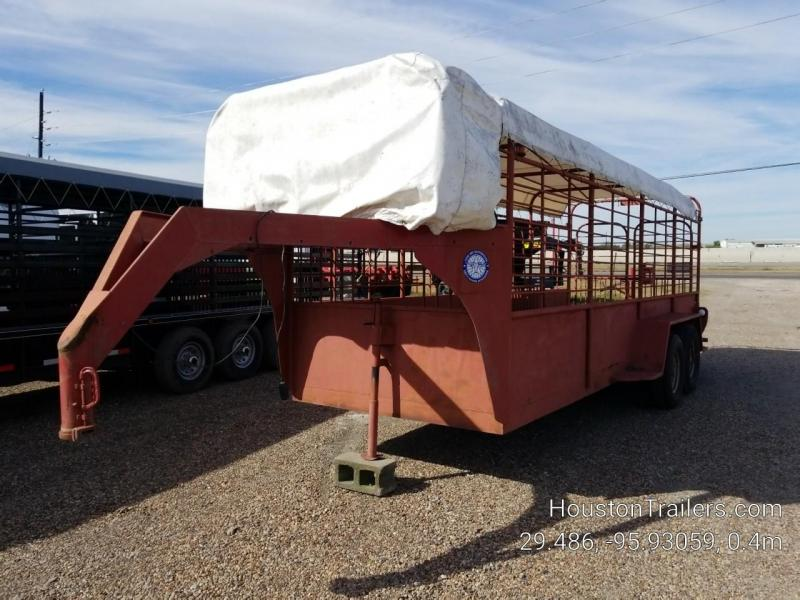 "1980 Livestock GN 20' x 6'8"" Livestock Trailer CO-1058"