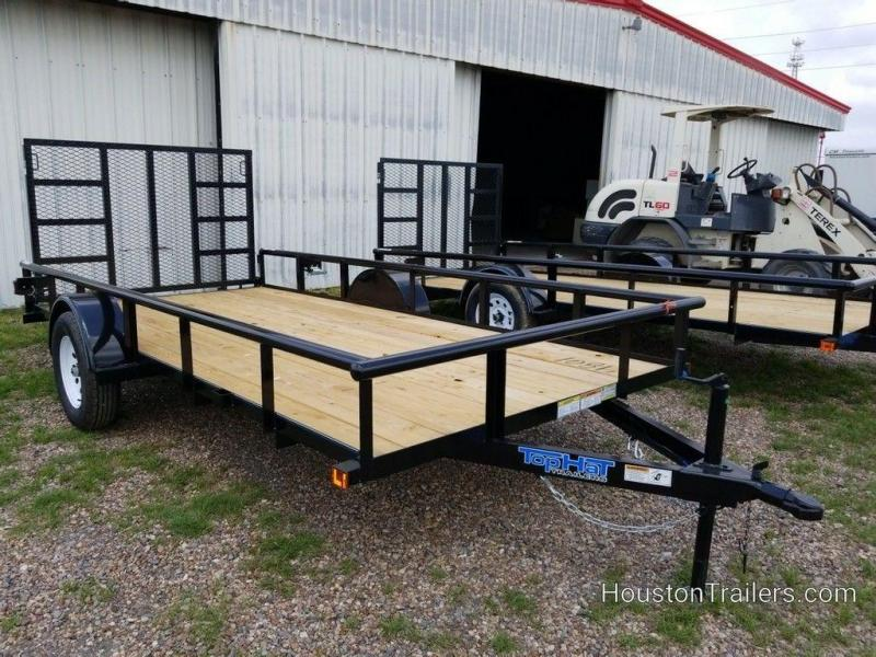 """2019 Top Hat Derby Sr Angle 77"""" x 14' Utility Trailer TH-188"""