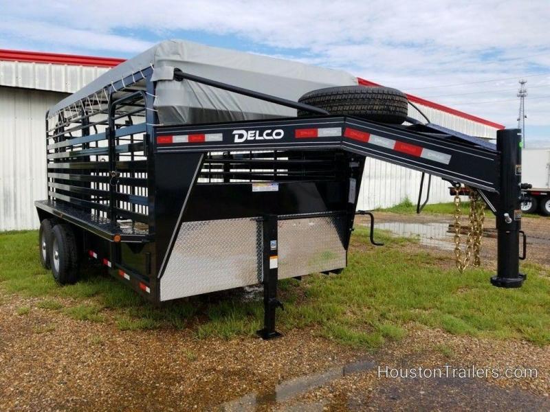 2019 Delco Trailers 16 ft Livestock Bar Top DEL-73