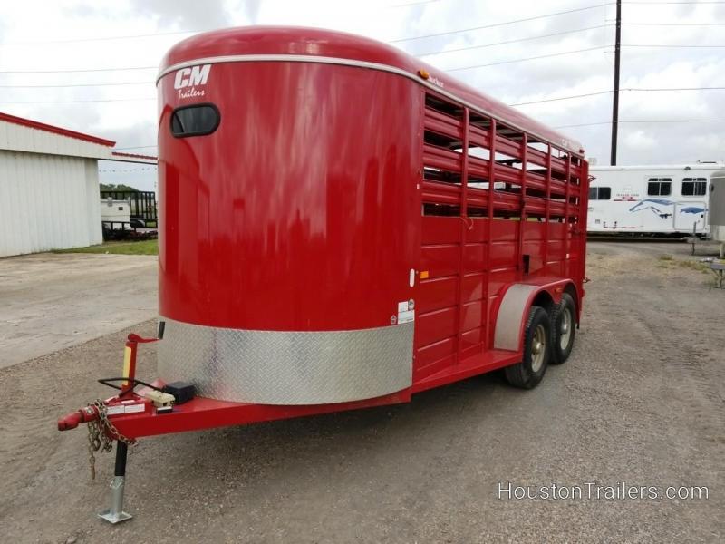 2015 CM 16' Stocker Livestock Trailer 8069