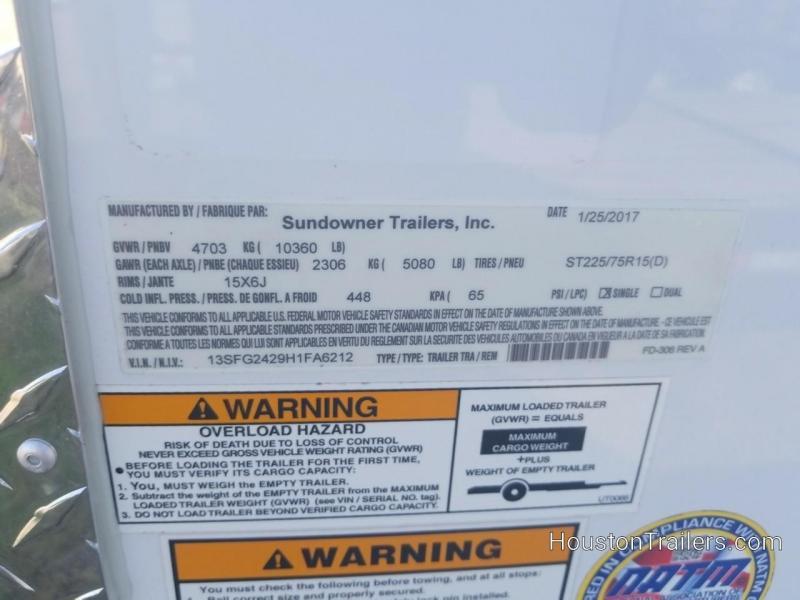 2017 Sundowner Trailers 17' + 7' Outdoorsman Car / Racing Trailer SD-101