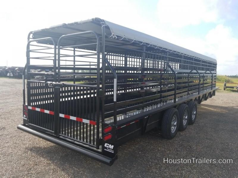 2019 CM 32' Brush Buster BT Bar Top Livestock / Cattle Trailer CM-60