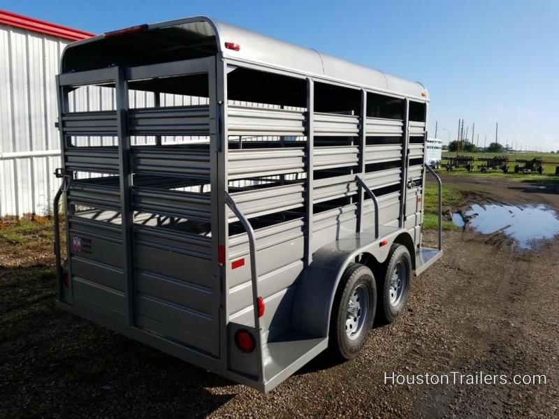 2019 W-W Trailer 14' x 5' All Around Livestock Trailer WW-101