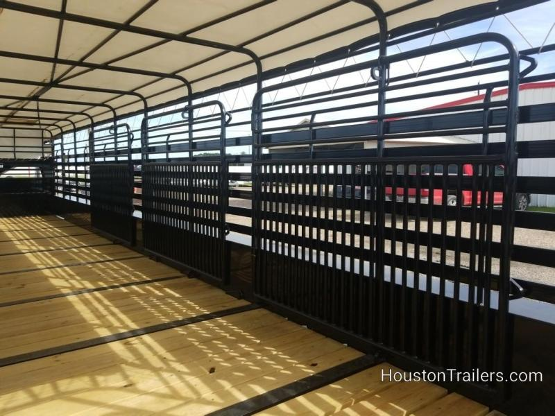 2019 Delco Trailers 36' Bar Top Livestock Trailer DEL-44