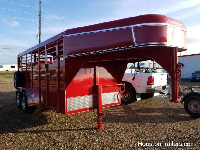 "2018 Calico Trailers 16' x 6' x 6'6"" Livestock / Cattle GN Trailer CLO-10"