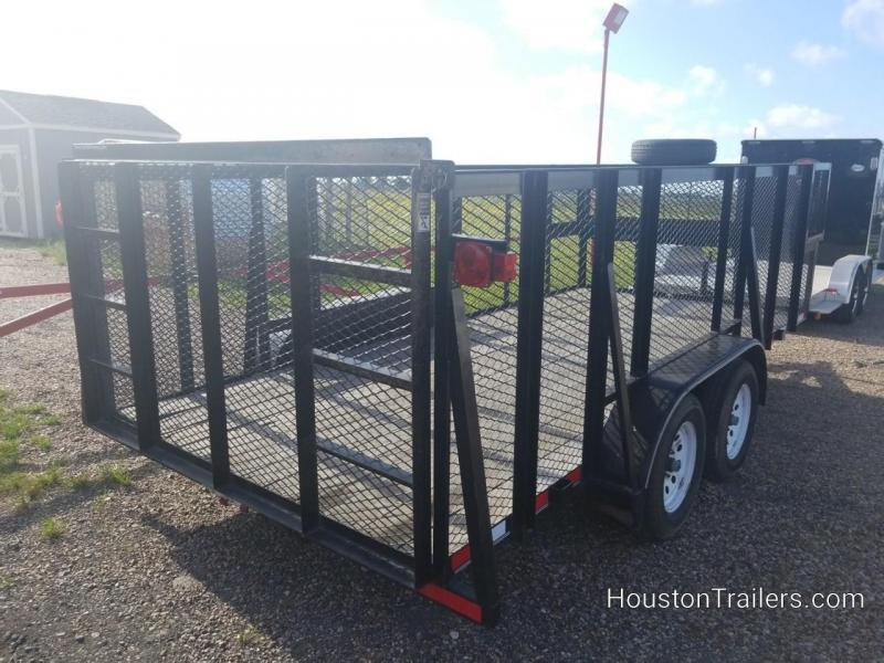 2015 Top Hat Trailers 16' Landscape Used Utility Trailer 8060