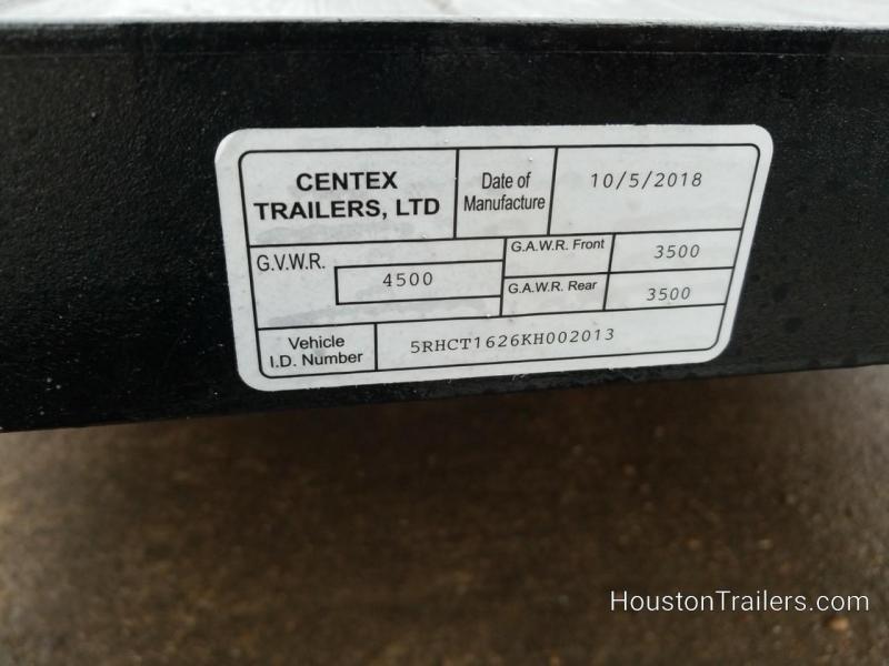 2019 Centex Trailers CT 6.4 x 16' Utility Trailer CNTX-105