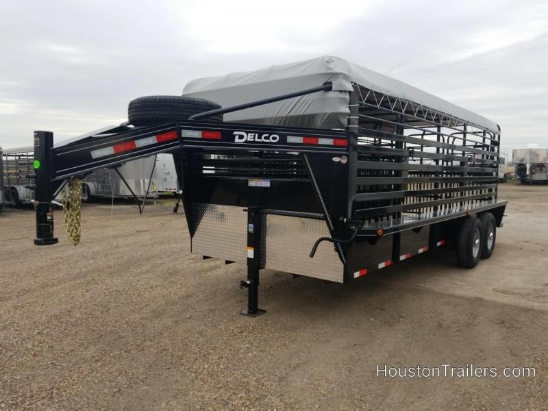 2019 Delco Trailers 20' Bar Top Livestock Trailer DEL-47