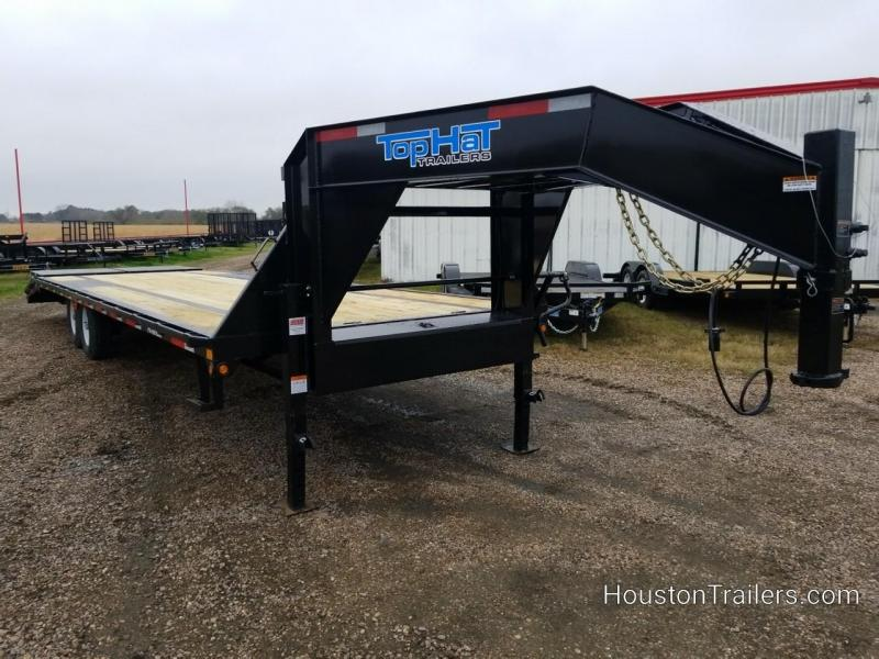 2019 Top Hat Trailers 30' GN159 Flatbed Trailer TH-154