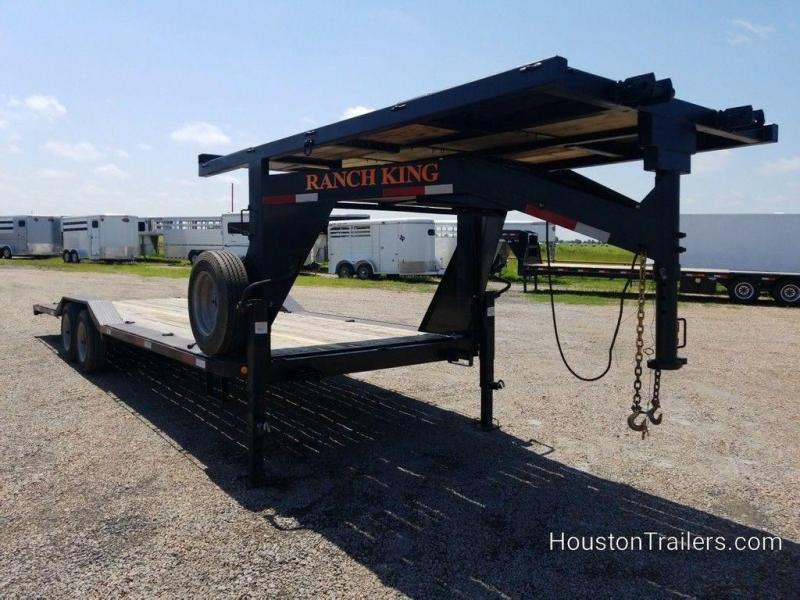 2014 Ranch King 24 ft Drive Over Fender Lowboy Gooseneck Trailer in Ashburn, VA