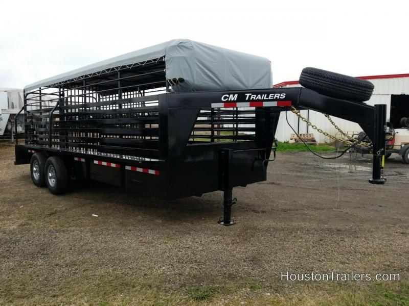 2019 CM Trailers 20' Brush Buster BT Livestock Trailer CM-75