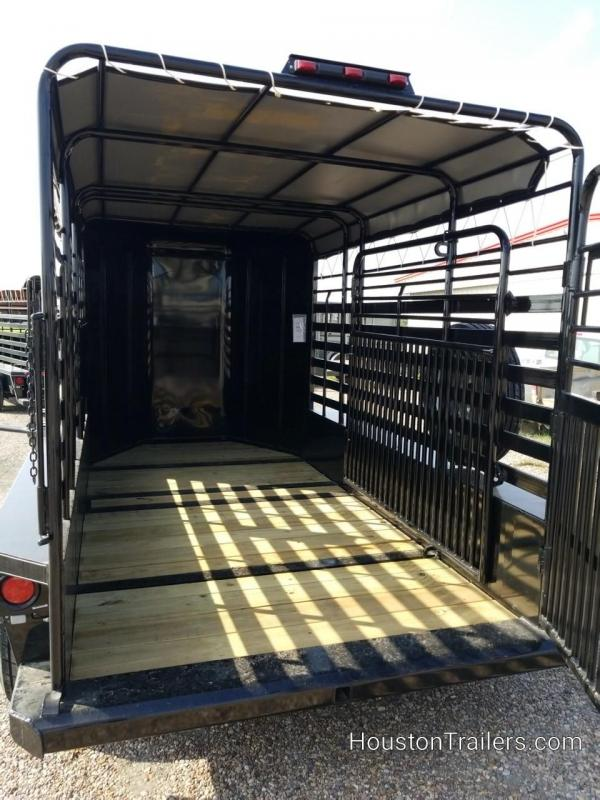 2018 Delco Trailers 14' Bar Top Livestock Trailer DEL-42
