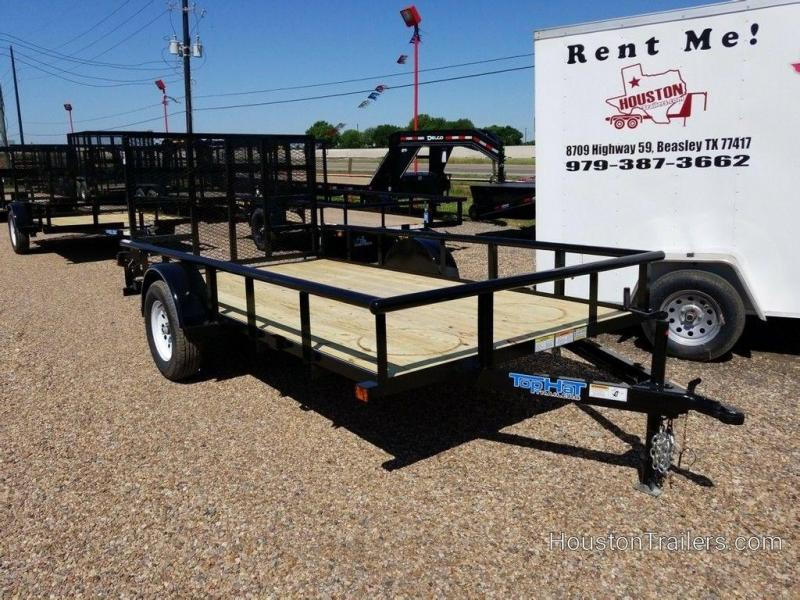 """2019 Top Hat Derby Sr Angle 77"""" x 12' Utility Trailer TH-176"""