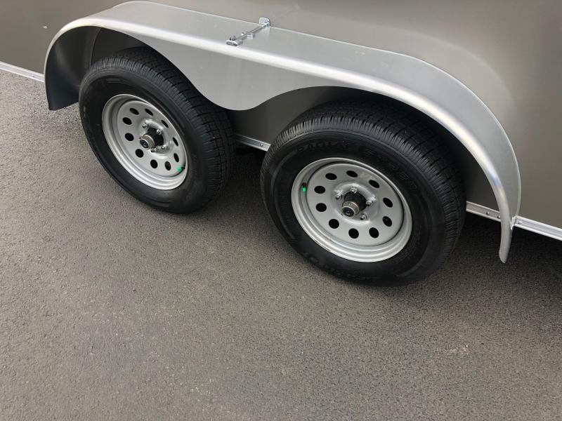 COVERED WAGON 2019 PEWTER SEMI-SCREWLESS 7 x 14 TANDEM AXLE ENCLOSED CARGO TRAILER