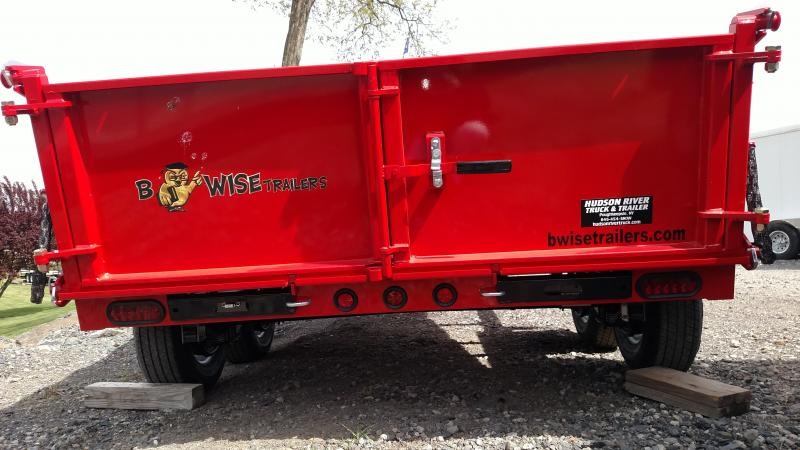 BWISE 2017 6' X 12' RED LOW PROFILE DUMP TRAILER **ON SALE** PLEASE ASK FOR BILL.