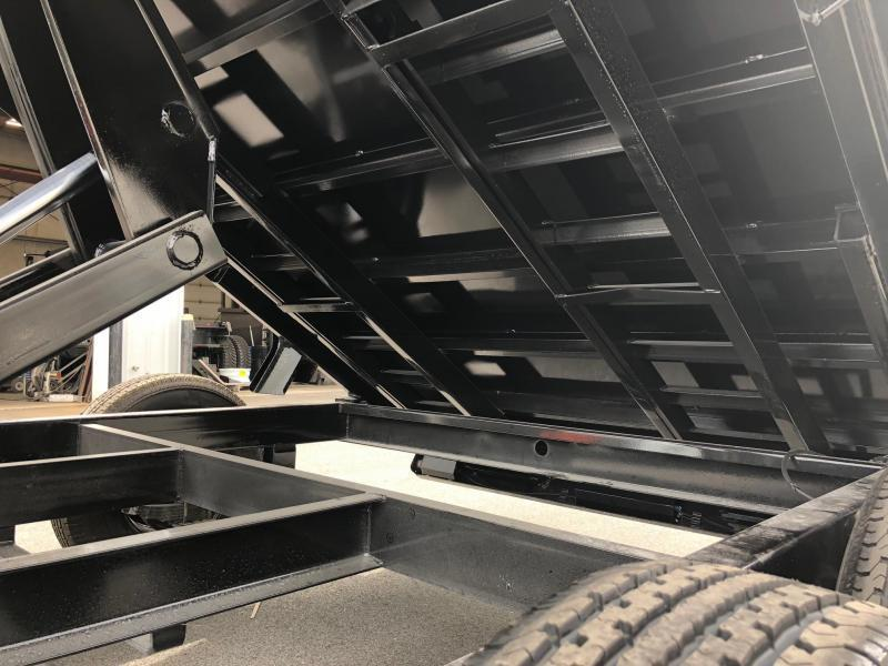 BIGTEX 2019 14LX-14 (7' x 14') BLACK HEAVY DUTY TANDEM  DUMP TRAILER