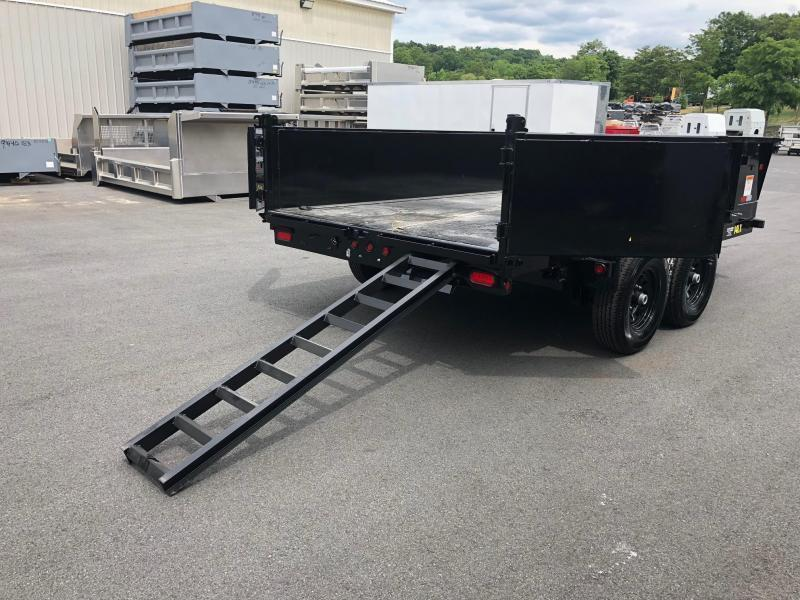 BIGTEX 2019 14LX-14 (7' x 14') BLACK HEAVY DUTY TANDEM EXTRA WIDE DUMP TRAILER