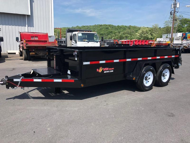 BWISE 2019 DLP14-15 7' X 14' LOW PROFILE HEAVY DUTY DUMP TRAILER (BLACK)