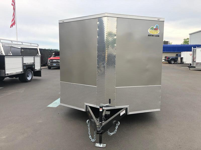 COVERED WAGON 2019 SEMI-SCREWLESS PEWTER 8.5' x 16' TA ENCLOSED CARGO TRAILER