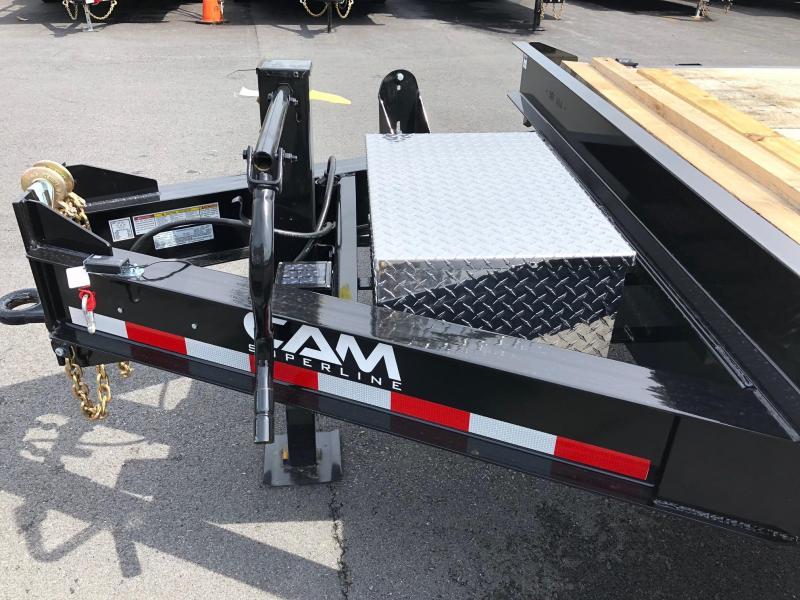 CAM 2018 8-TON HEAVY DUTY DECKOVER CONSTRUCTION TRAILER 8.5' x 24'