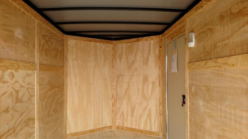 ROCK SOLID 2019 6' x 12' WHITE SINGLE AXLE V-NOSE ENCLOSED TRAILER