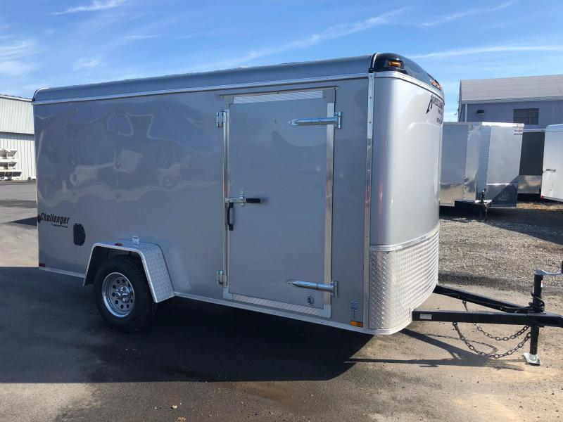"HOMESTEADER 2019 6' x 12' SILVER CHALLENGER ENCLOSED TRAILER WITH 6"" EXTRA HEIGHT"