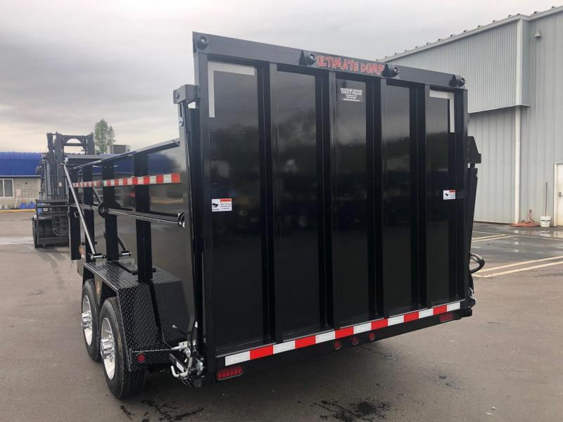 BWISE 2019 7' x 16' BLACK ULTIMATE DUMP LOW PROFILE TRAILER