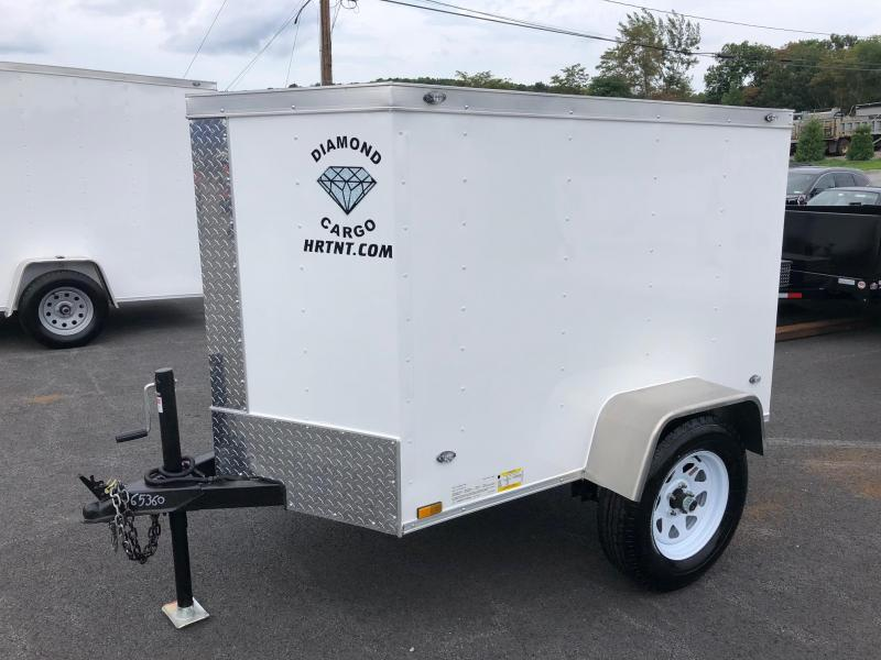 DIAMOND CARGO 2019 4' x 6' SINGLE AXLE WHITE ENCLOSED CARGO TRAILER