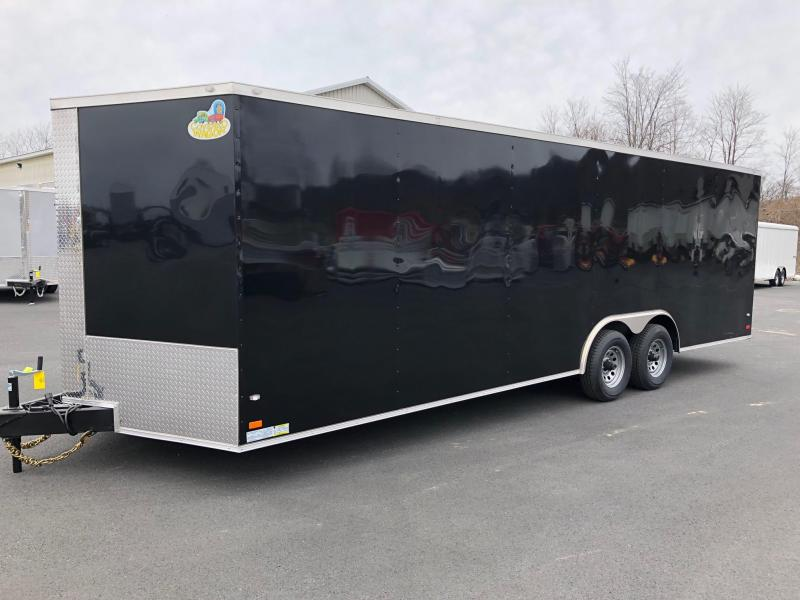 COVERED WAGON 2018 BLACK 8.5' x 24'  ENCLOSED CARGO TRAILER