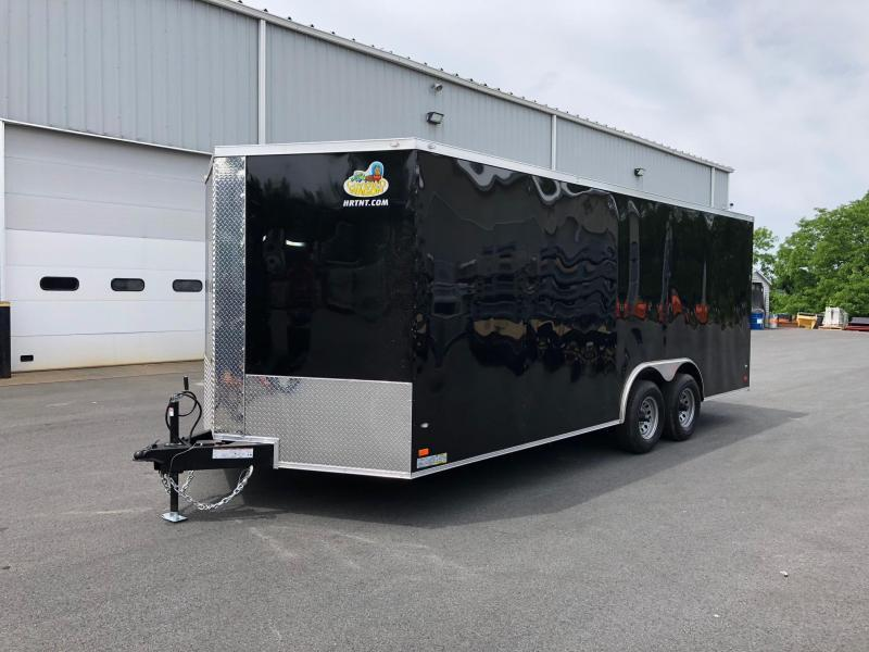 """COVERED WAGON 2019 8.5 X 20 TANDEM AXLE BLACK SEMI-SCREWLESS ENCLOSED CARGO TRAILER 6"""" EXTRA HEIGHT TRIPLE TUBE TONGUE"""