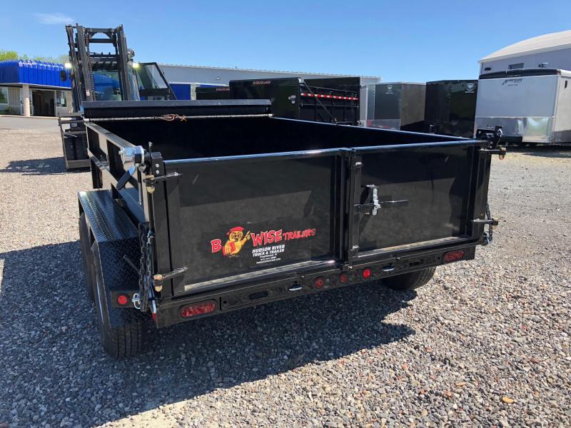 BWISE 2018 6' x 10'  BLACK W/ HAMMERTONE DUMP TRAILER (DLP10-10).