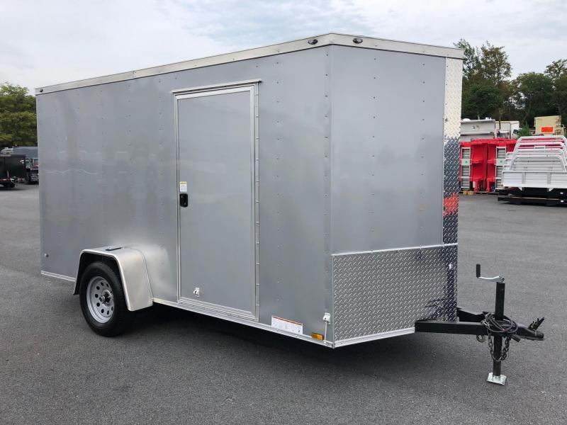 DIAMOND CARGO 2019 6' x 12' SINGLE AXLE SILVER FROST ENCLOSED TRAILER