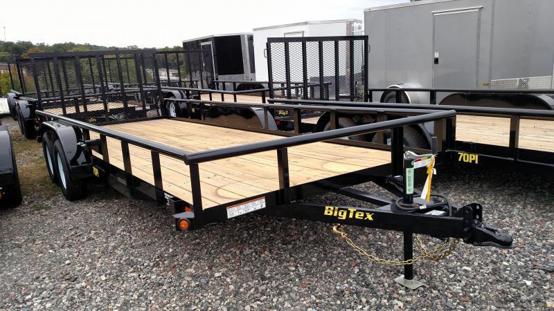 BIGTEX 2019 7' x 20' (70PIX) Tandem Axle Pipe UTILITY TRAILER
